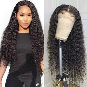 3x16deep CurlyMongolian Human Hair Wig Lace Front